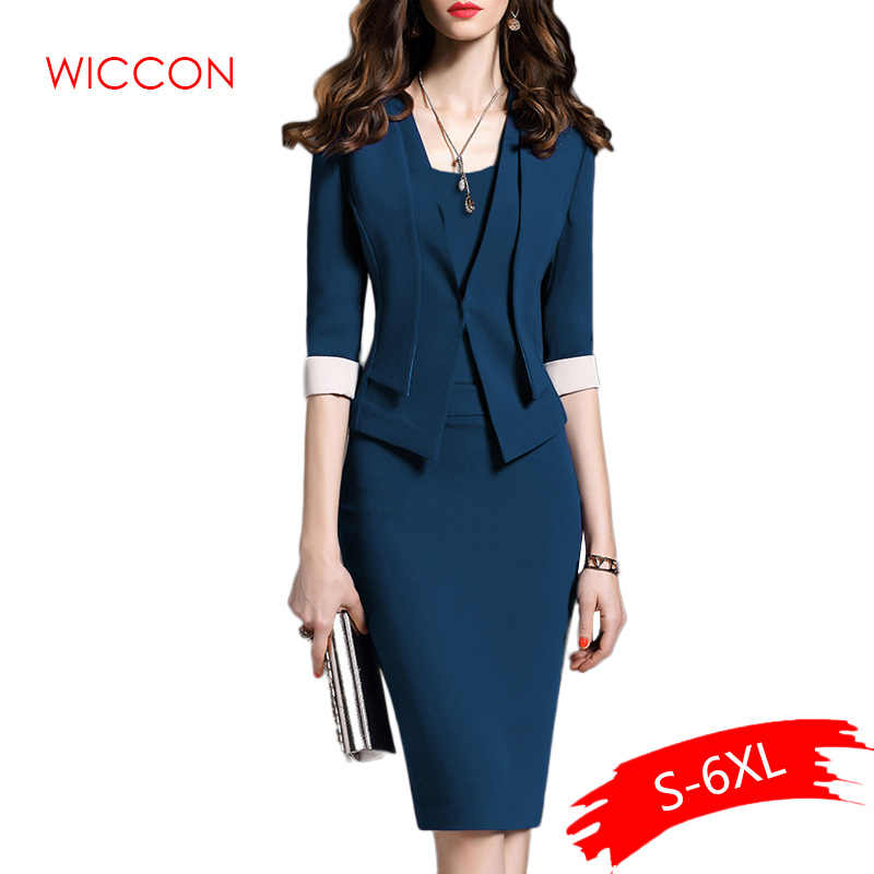 Dames Suits Voor Office Slijtage Pak Party Japon Vrouwen Gelegenheid Jurken Elegante Blazer Jurk Jas Set Vrouwen Mode Jas