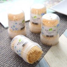 BF040 Environmental friendly bamboo toothpick - Portable canned cover bot 4.7*4.3*7.3cm free shipping