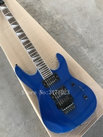 New Arrival Metal Blue Finish Jackson Electric Guitars With Black Floyd Rose Tremolo For Sale Free