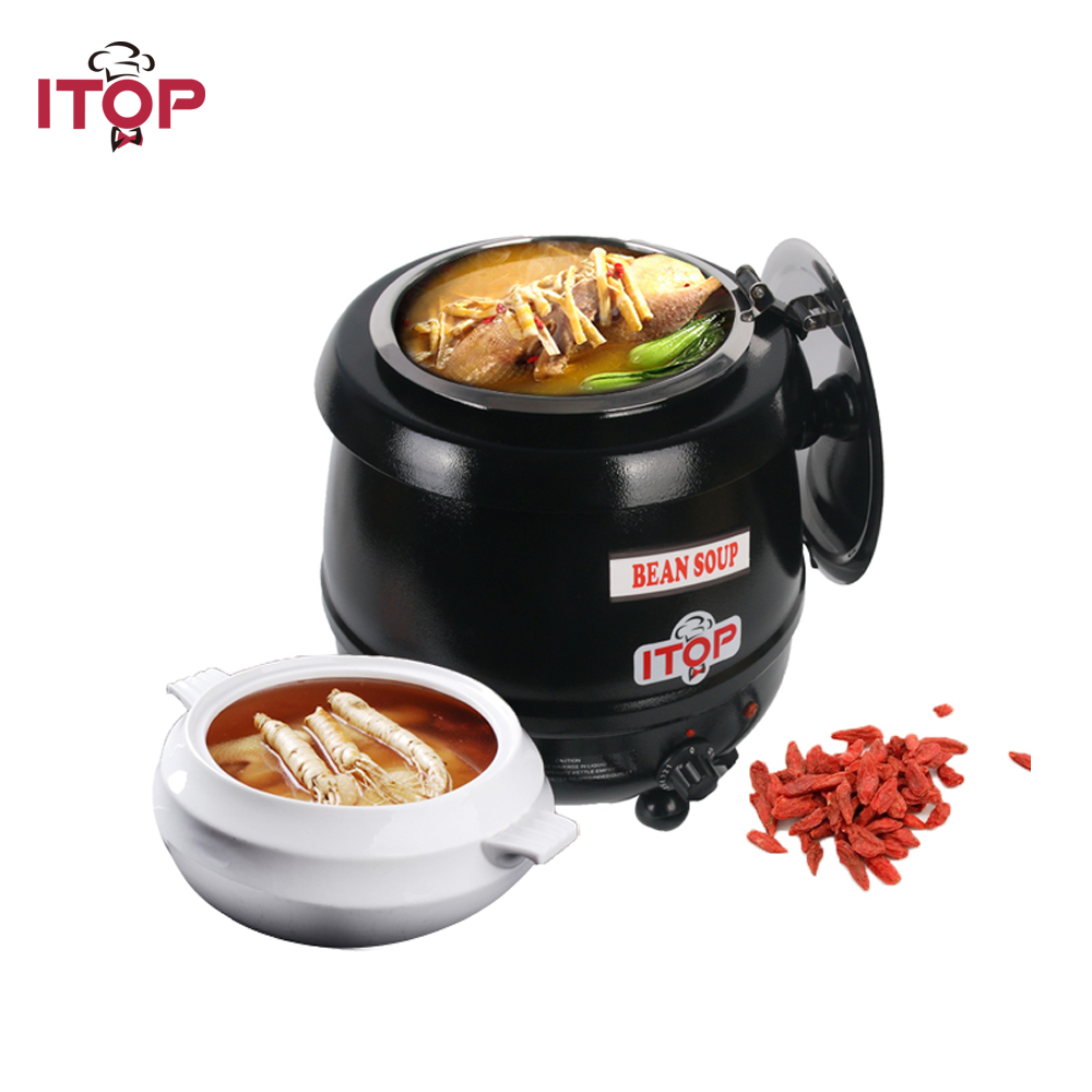 High Quality 10L Electric Soup Kettle Warmer 110V 220V Soup Pot Soup Boiler Stainless Steel Bowl Food Processors