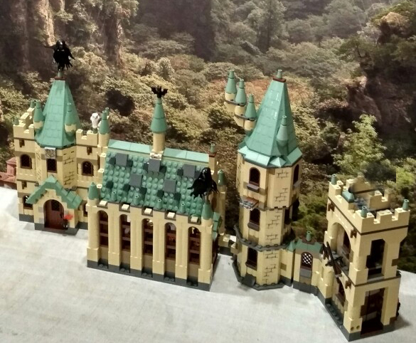The Hogwarts Castle Set 1340Pcs Creative Movies Series Model Building Block Children Toy Gift
