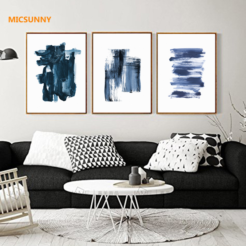 Micsunny contemporary abstract vertical horizontal watercolor pictures canvas prints wall art painting modern home decor