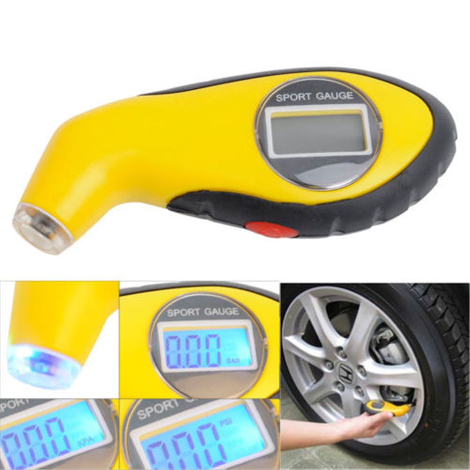 Hot Tyre Air Pressure Gauge Meter Electronic Digital LCD Car Tire Manometer Barometers Tester Tool For Auto Car Motorcycle