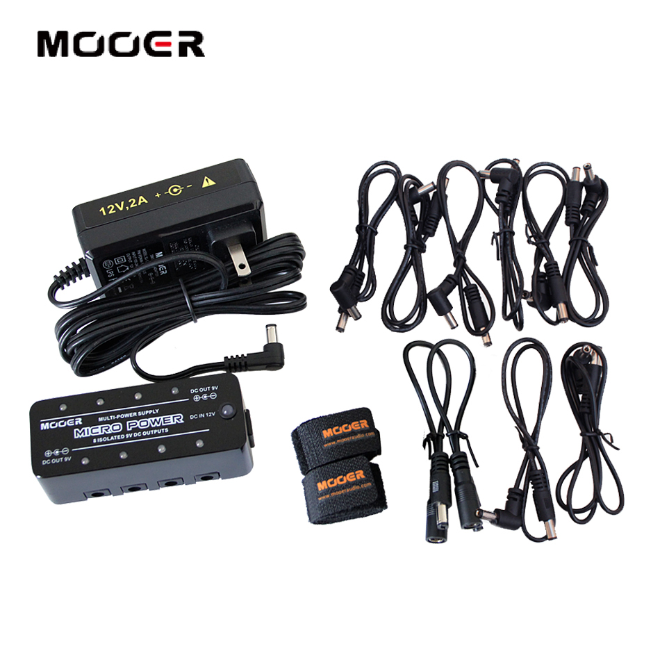 Mooer Pedal Power Supply Micro Power S8 Multi-Power Supply with 8 Ports Isolated Power Supply