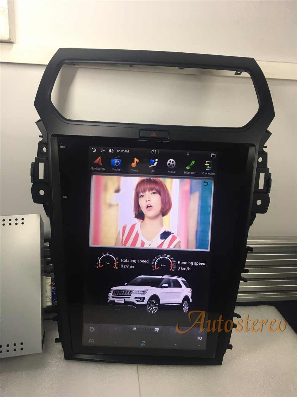 e1eb2ed41d2e ... Tesla style Android Car DVD Player GPS Navigation For Ford Explorer  2011 2012 2013 2015 2016 ...