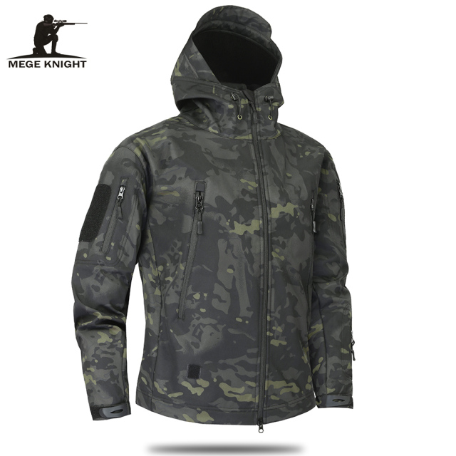 Mege Brand Clothing Autumn Men's Military Camouflage Fleece Jacket 1