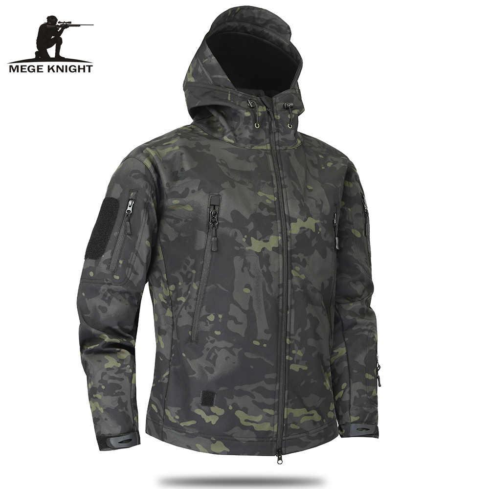 Мужская камуфляжная утепленная куртка MEGE, болотно-зеленая камуфляжная армейская куртка с флисовой подкладкой, тактическая военная одежда, универсальная ветровка в стиле милитари на осень 2019