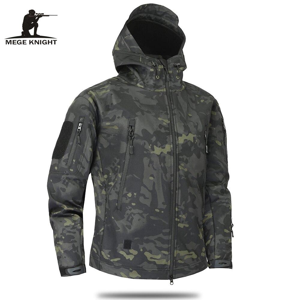 Mege Marque Vêtements Automne Hommes Militaire de Camouflage Polaire Veste Armée Tactique Vêtements Multicam Mâle Camouflage Blousons - 2
