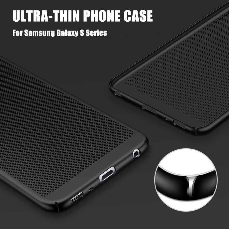 WST Ultra Slim מקרה טלפון עבור Samsung Galaxy S8 S9 S7 S6 בתוספת S6 קצה בתוספת S8 S9 בתוספת S7 s6 מקרה הולו חום פלסטיק מלא כיסוי
