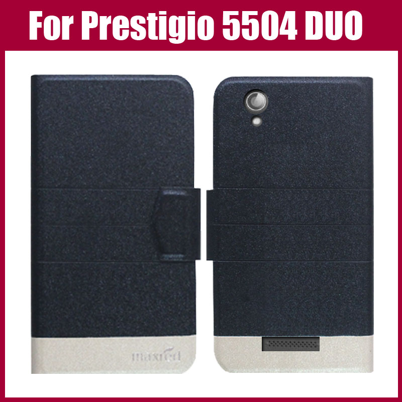 Hot Sale! New Arrival 5 Colors Fashion Flip Ultra-thin Leather Protective Cover For Prestigio MultiPhone 5504 DUO Case
