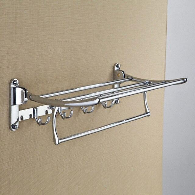 2017 New Luxury Bathroom Hooks Br Wall Mounted Clothes Towel Racks Top Grade Shelf