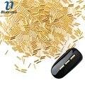 1 Paquete de 2*4mm Glitter Nail Accesorio Aleación de Oro Remache Estilo Japonés 3D Decoración Del Arte Del Clavo Diseño de Cilindro espárragos PJ480