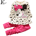 KEAIYOUHUO 2017 Spring Baby Girls Clothes Sets Cartoon Long Sleeves Cotton Sport Children Clothing Costume For Kids Outfit Suit