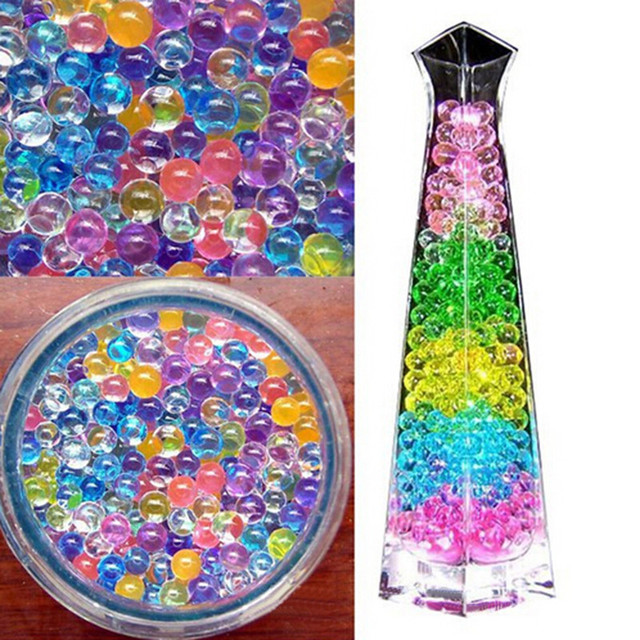 500 Pcs/lot 2-3MM crystal soil weeding decoration Orbeez Soft Crystal Water Paintball Grow Water Beads Grow Balls Water Gun Toy