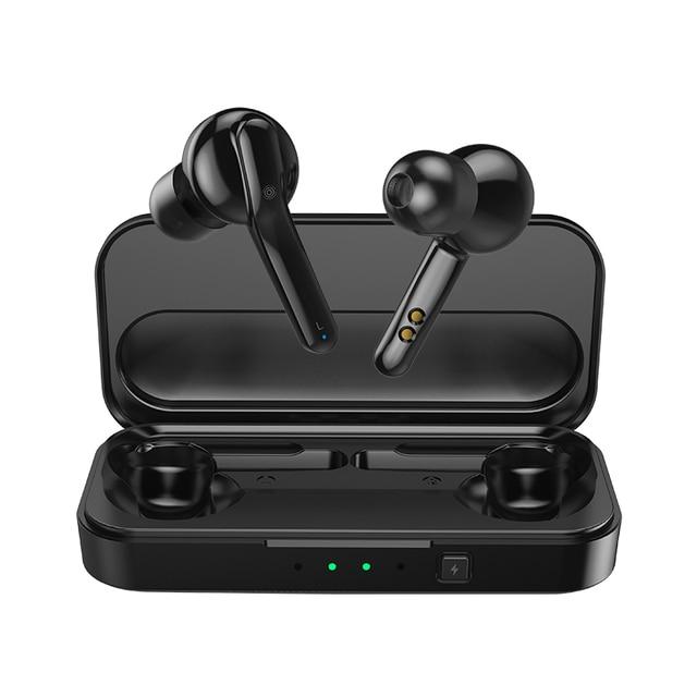 Mifa prawda bezprzewodowe słuchawki stereo Bluetooth 5.0 Sport słuchawka z mikrofonem głośnomówiący połączenia z okno ładowania