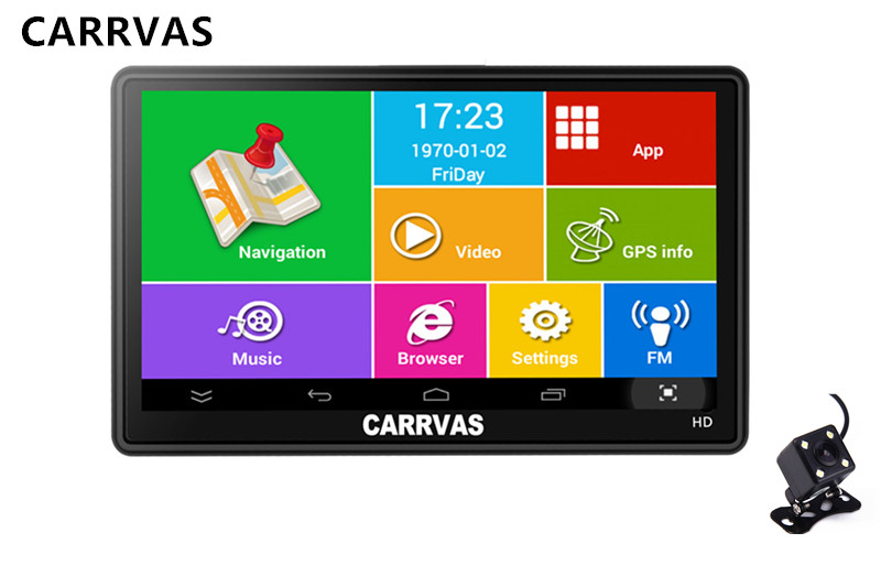 CARRVAS 7 inch Android Car GPS Navigation WIFI AV IN 512Mb 8Gb Truck Vehicle Gps Navigator