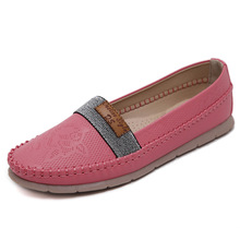 BURST Models Spring and Autumn String Comfortable Flat Shoes Large Size Women Flat Shoes Medium Slip-on Casual Flat Shoes