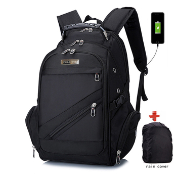 "Brand Swiss Laptop 15""Backpack External USB Charge Men Computer Backpacks Anti-theft Backpack Waterproof Bags with rain cover"
