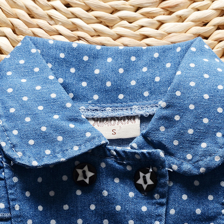 BibiCola-spring-new-children-girls-lovely-polka-dots-denim-jacket-female-baby-cotton-jean-lapel-coat-kids-emperament-outfits-1
