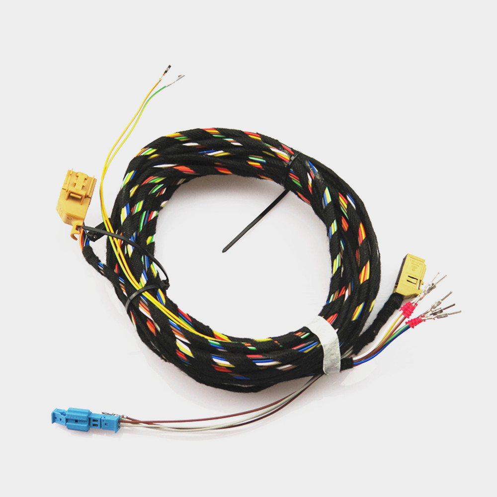 COSTLYSEED PQ Platform 8K OPS Switch Wire Front Buzzer Speaker Body Harness Wiring For VW Golf Jetta MK5 Touran Tiguan Polo A3 parking front and rear 8k pdc ops harness cable wire kit for vw golf 5 6 passat b6 touran jetta mk5 mk6 skoda octavia polo
