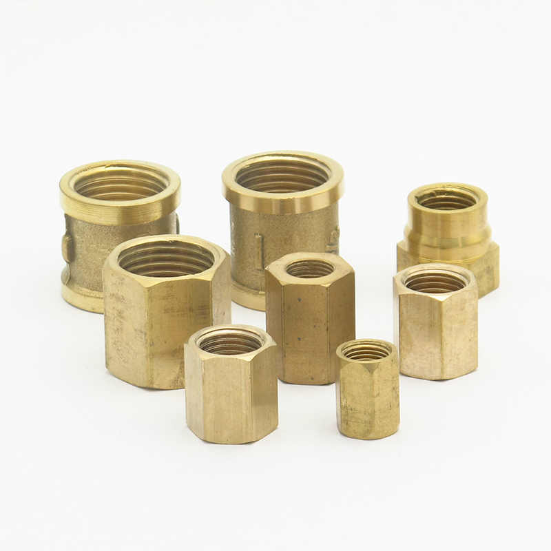 "1/8 ""1/4"" 3/8 ""1/2"" 3/4 ""1"" Bsp Messing Socket Pijp Montage Hex moer Staaf Coupler Connector Adapter Voor Water Fuel Gas"
