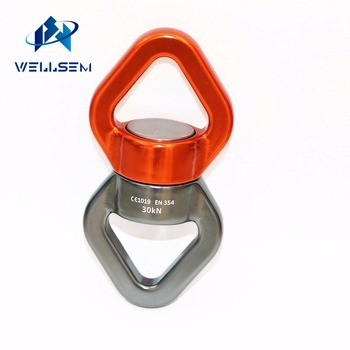 30KN Swivel Fast 360 Rotator Rotational Device Hanging Accessory for Hanging Swings Safety and Climbing