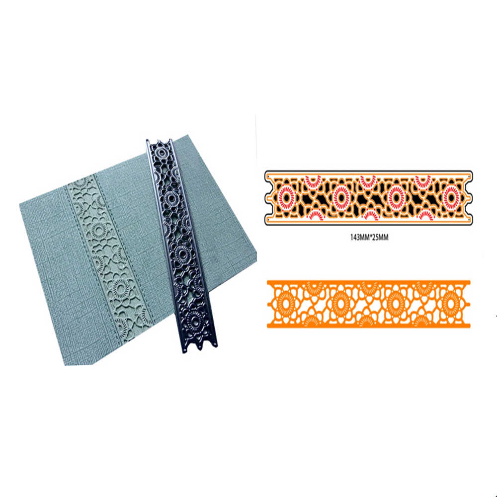 14 Style Lace Border Craft Dies Sunflower Metal Cutting Die Cards Tool 3D Stamp DIY Scrapbooking Card Making Photo Frame Decor