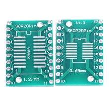 10 шт./лот TSSOP20 SSOP20 SOP20 к DIP20 печатной платы передачи DIP Pin доска шаг адаптер