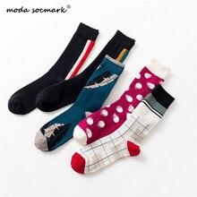 Moda Socmark Brand Socks Men Harajuku Street Happy 2019 Fashion Personality Geometry Long socks Couple sock Men/Women