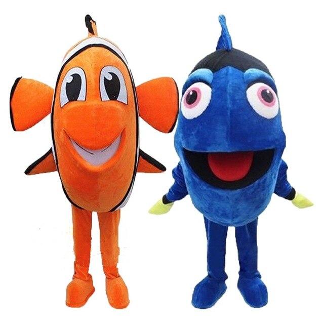 Dory Nemo poisson mascotte costume cosplay thème mascotte costume dessin animé personnage mascotte fête de noël costume