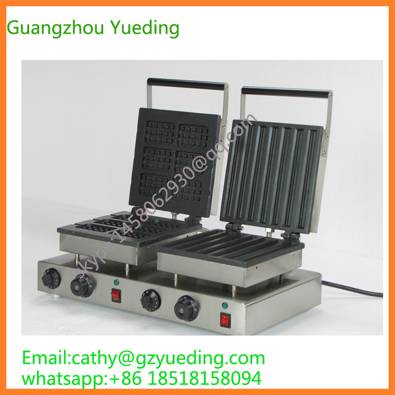 hot sale Rectangle waffle maker&churros waffle making machine with double head for sale vibration type pneumatic sanding machine rectangle grinding machine sand vibration machine polishing machine 70x100mm