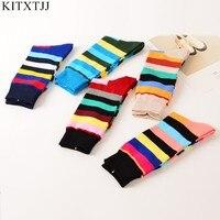 5Pairs Lot New Socks Men Fashion Cotton Crew Skate Brand Sock Happy Meias Art Dress Harajuku