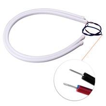 2Pcs 60cm red Flexible led Tube Strip car-styling soft DRL Headlight Lamp Guide Car LED Daytime Daylight Running light