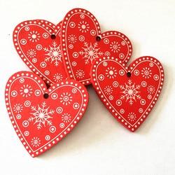 New Year 2020 Christmas Snowflake Wooden Pendant Xmas Tree Decorations for Home Wood Hanging Crafts Navidad 2019 Noel Natal Deco 3