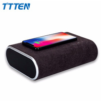 TTTEN Wireless Charger Bluetooth Speaker Stereo Music Player Portable Travel Quick Charging Speaker For iphone XS mobile phones
