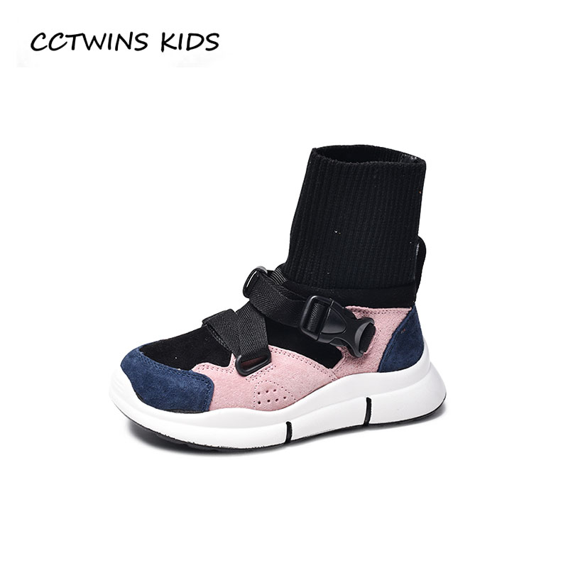 CCTWINS KIDS 2018 Autumn Children High Top Sneaker Boy Brand Sport Shoe Baby Girl Fashion Pu Leather Trainer Toddler FH2287 cctwins kids 2017 spring high top usb rechargeable lighted girl brand trainer baby boy shoe led children fashion sneaker f1312