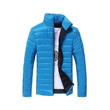 Winter Male Cotton Jacket 2017 Men Zipper Coats Casual Denim Jacket Men Clothes Cotton Brand Coat Man Warm sportswear Coat