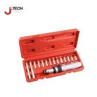 Jetech tool 15pcs/set 8mm multi bit screwdriver set multi tip screwdrivers kit hand impact screw driver set for auto repair tool