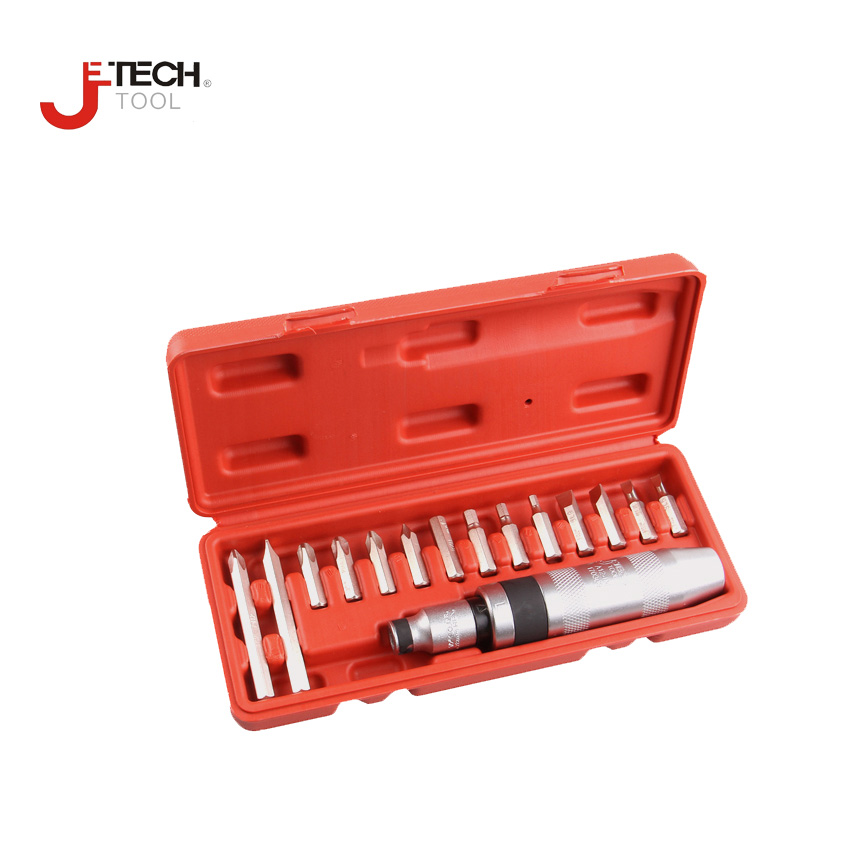 Jetech tool 15pcs/set 8mm multi-bit screwdriver set multi tip screwdrivers kit hand impact screw driver set for auto repair tool стоимость