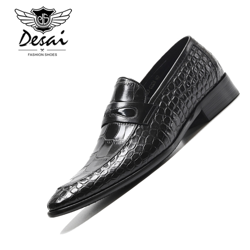 Vintage Men/'s Shoes Trendy Dress Cow Leather Formal Slip on Loafers US Size New