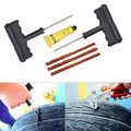 Moto/Carro Tubeless Tyre Puncture Repair Tool Kit Plugue Pneu Auto 3 Tiras