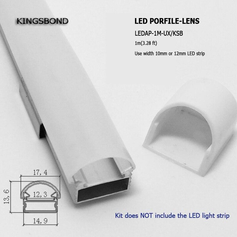 DHL EMS Fast shipping 10pcs lot 1 meter pc LED Strip Rigid Bar Aluminum Profile With