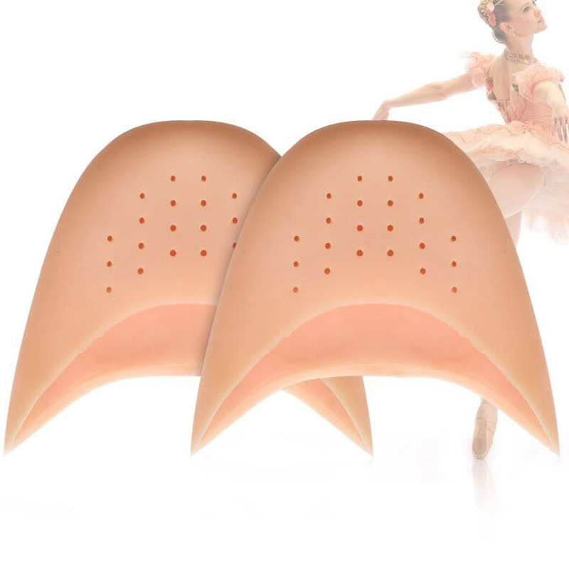 1Pair Silicone Gel Toe Dance Breathable Shoe Pads Insoles Professional Soft Ballet Pointe Insole