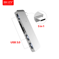 SIKAI USB Type C To USB 3.0 Multiport Adapter For Macbook 12 USB Hub For Macbook Pro TypeC Adapter High Speed 5 in 1 USB Hub 3.0