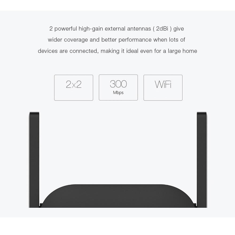 Original Xiaomi WiFi Amplifier WiFi Repeater Pro 300M 2 4G Wifi Signal  Extender Roteador Wifi Extender Amplificador APP Control