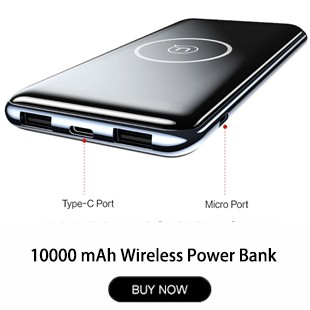 Dual-USB-Ports-10000mah-Power-Bank-USAMS-QI-Wireless-Charger-Pad-Power-Bank-Built-in-Wireless