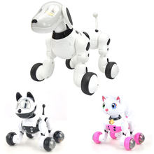 Wireless Remote Control Smart Robot Dog Cat Electric Dog Early Education Educational Toys Dance Sing For Children Gfit Dropship(China)