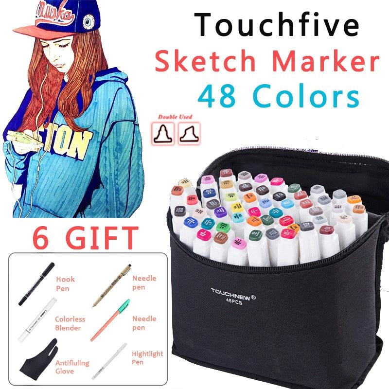 48 colors mark pen Animation manga Design Paint Sketch Markers Drawing soluble pen cartoon graffiti posca art markers Pens baoke pop pen student art advertisement mark pen art design poster pen