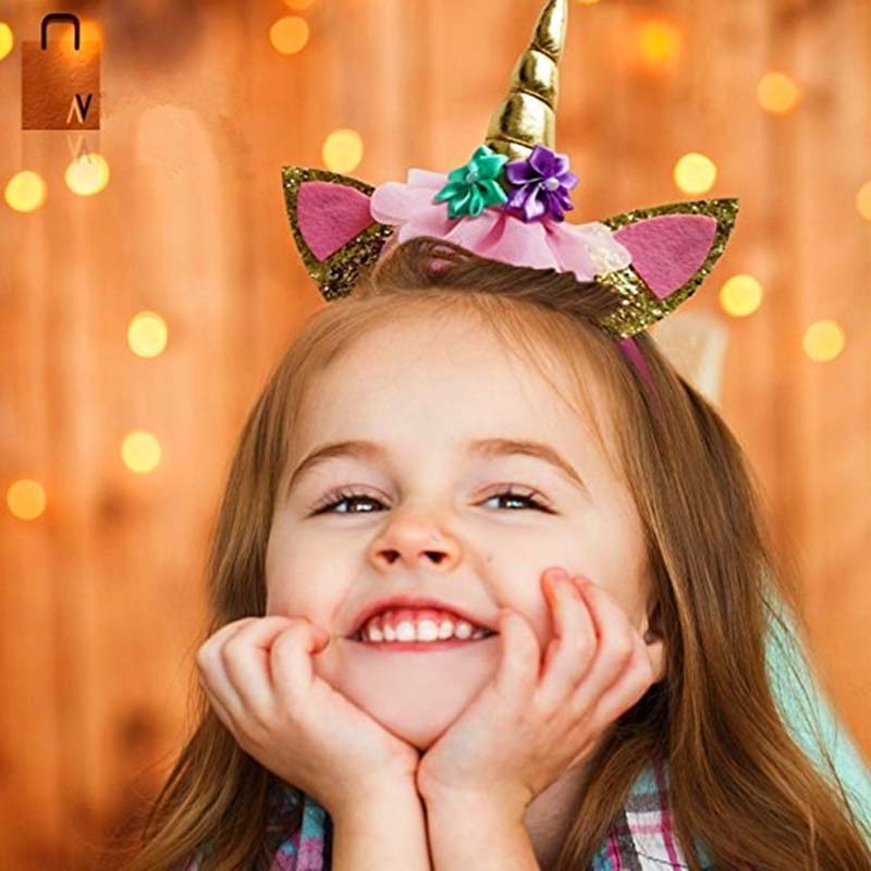 1Pcs  Head Hoop Princess Birthday Party Carnival Unicorn Band Event Party Supplies Hat Princess Headdress Dance Party