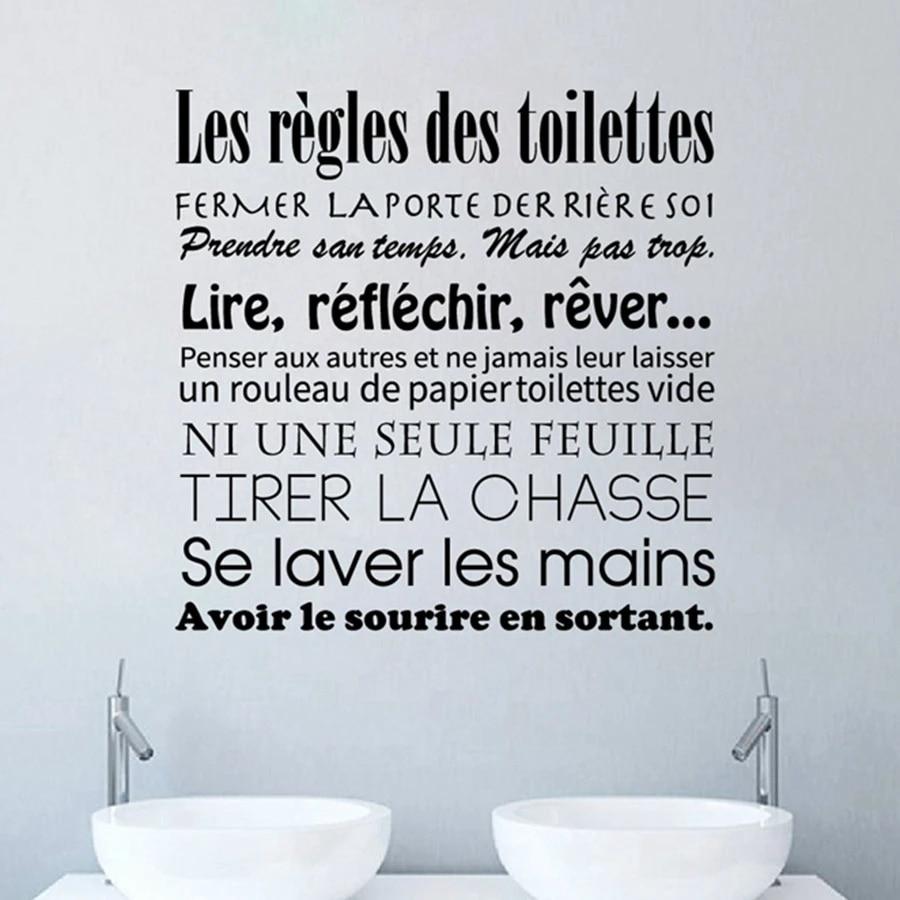 Kamar Mandi Stiker Bahasa Perancis Toilet Aturan Vinyl Dinding Seni Decals Mural Kamar Kecil Wallpaper Wc Rumah Dekorasi Poster Dekorasi Rumah Wall Stickers Aliexpress